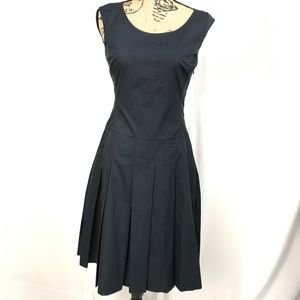 Banana Republic Navy Fit Flare Dress Size 4